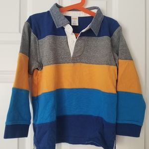Boys striped polo style shirt longsleeve top